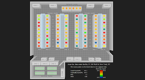 Data Center floorplan demo